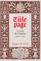 The title-page: its early development, 1460-1510
