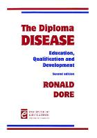 The diploma disease: education, qualification and development
