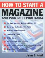 How to start a magazine and publish it profitably