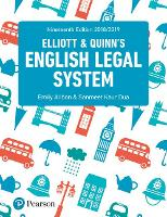 Elliott and Quinn's English legal system