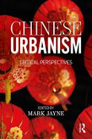 Chinese Urbanism: Critical Perspectives