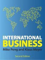 International business / Mike Peng and Klaus Meyer.