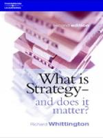 What is strategy: and does it matter?
